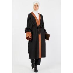 Aleda (Kahverengi) Kimono